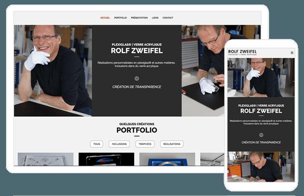 Création du site internet www.rolfzweifel.ch